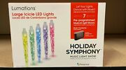 Lumations Holiday Symphony 5 Ct Icicle Led Multicolor Dome Music Light Show