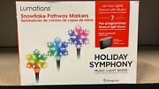 Lumations Holiday Symphony 3 Ct Snowflake Pathway Markers Led Music Light Show