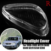 Right Headlight Headlamp Clear Lens Shell Cover For Mercedes Benz W220 1998-05