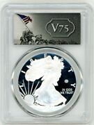 2020-w 1 Proof Silver Eagle V75 Privy Pcgs Pr70 First Day Of Issue
