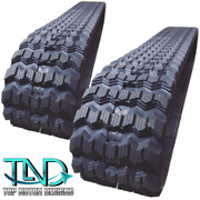 Two Rubber Tracks For Mustang 1650rt 320x86x49 Zig Zag 13 Wide