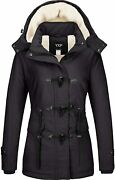Yxp Womenand039s Winter Thicken Military Parka Jacket Warm Fleece Cotton Coat With Re