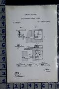1872 Oliver Baltimore Maryland Seal Lock Railroad Car Tool Patent Litho 124217
