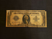 1923 United States One Dollar 1 Blue Seal Silver Certificate Large Star Note