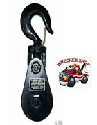 8 Ton Snatch Block W/ 8 Pulley - Wrecker Tow Truck Crane Equipment Winch Cable