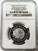 2000 Platinum Dominican Republic 200 Minted 1 Oz 2000 Peso Coin Ngc Pf 68 Uc