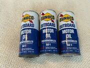 Vintage Sunoco Outboard Motor Oil For Snowmobiles Can Lot