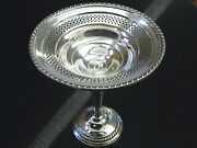 Revere Silversmiths Sterling Silver 7 Pierced Compote / Footed Candy Dish