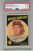 1959 Topps 338 Rc Hof Psa 5 Sparky Anderson Detroit Tigers Baseball Card George