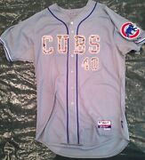 Rare Camo Chicago Cubs Game Used Jersey James Russell Size 48 Baseball Iowa Mlb