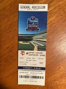 2010 Target Field 1st Game Played Ticket Stub Minnesota Twins And Gophers