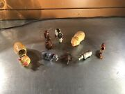 Vintage Lot Of 8 Celluloid Bobbing Animal Toys- West Germany