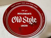 Vintage And039ask Forand039 Heilemans Old Style Lager 13andrdquo Beer Tray And039aged Longerand039