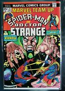 Marvel Team-up Featuring Spider-man And Doctor Strange 21 May 1974, Marvel 9+