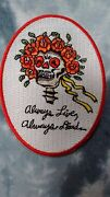Grateful Dead X Wes Lang Always Live Always Dead 3.5 X 2.5 Inch Iron On Patch