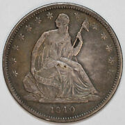1840-p Seated Liberty Half Dollar [sn01] You Will Receive The Coin Shown