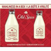 Vintage New Old Spice Cologne And Aftershave Gift Box Set 4.25 A/s And 2.5oz Col