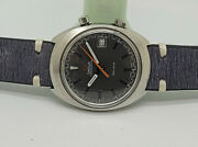 Rare Vintage 1960and039s Omega Chronostop Grey Dial Manual Wind Manand039s Watch