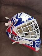 Mike Richter Ny Rangers Vintage 1990's Full Size Goalie Mask Authentic Liberty