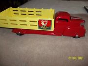 Marx Stake Coca Cola Truck Restored 23 1/2 Inches Long Reduced