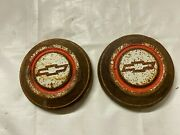 1967 1968 Chevy Truck 1/2 Ton Dog Dish Caps Pickup Hubcaps Wheel Covers Bowtie