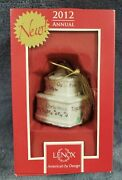 Lenox 2012 Our First Christmas Together Porcelain Ornament Anniversary