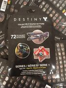 Destiny Collectible Shaped Buttons Series 1 Lot Of 46 Blind Packs Pins Badges