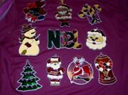 10 Vintage Makit And Bakit Christmas Ornaments Metal Stained Glass - Reindeer ++