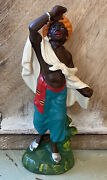Vintage Italy Paper Mache Fontanini Camel Guide Nativity Christmas