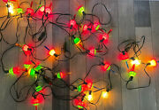 Vintage Noma Bubble Lites Lights 35 Bulbs Lot Of 5 Strings With 7 Bulbs Tested