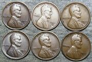 1913 1916-s 1918-s 1919-s 1928-d 1931-d Lincoln Cent Penny --- Nice Lot -- J105