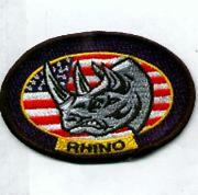 Usaf Air Force Vfa-106 Black Oval Rhino Frs Rag Embroidered Jacket Patch