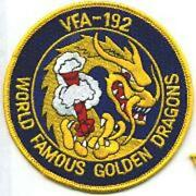 4 Navy Vfa-192 50th Anniversary Famous Golden Dragons Embroidered Jacket Patch
