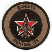 Navy Vf-126 F-16 Bullet Desert Round Military Embroidered Jacket Patch