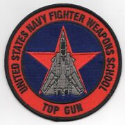 4 Navy Usn Fws Top Gun Fighter Weapons School F-14 Embroidered Jacket Patch