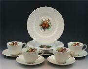 Copeland Spode China Alden 14 Piece Dessert Set W/ Cups And Saucers And Plates