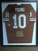 Vince Young 10 Texas Longhorns Certified Autographed Framed Jersey