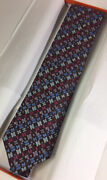 """Hermes Tie Multi Color 100 Woven Silk Tie H"""" Tie With Defects And Without Tags"""