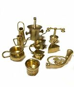 Vintage Mini Brass Mortar And Pestle And More Lot Of 10 24-j288