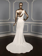 Vera Wang Couture Florentina White Sheath Wedding Dress Sexy Modern Sleeveless
