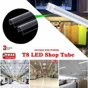 10-1000 Pack 4ft Bulb T12 Led T8 18w Double Ended Fluorescent Shop Light Clear
