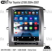 For Toyota Land Cruiser Lc100 Car Gps Navigation System Headunit Radio Stereo Bt
