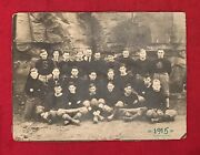 Antique 1915 Swenson Athletic Club Of Pittsburgh Pro Football Team Cabinet Photo