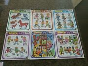 Vintage Lot Of 6 Puzzle Patch Sharp 12pc Tray Puzzles Kids