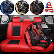 Protector Cushion Set Universal Fit 5-sits Car Seats Cover Front Rear Full Wrap