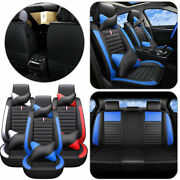 Pu Leather Universal 5-sits Car Seat Cover Luxury Auto Interior Soft Padded Set