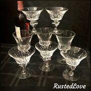 8 Tiffin Franciscan Princeton Glasses - 3 Water Goblets And 5 Water / Champagne