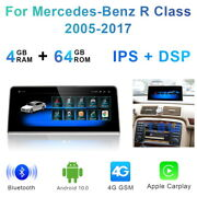 Android Car Gps Stereo Dash Wireless Carplay For Mercedes Benz R Class 2005-2017