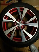 2017 Nissan Maxima 18 Oem Custom Two Tone Red And Silver Rims W/ Tires