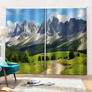 Beautiful And Clean Natural Scenery Printing 3d Blockout Curtains Fabric Window